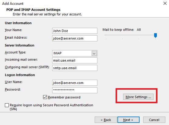 Microsoft Outlook setup for Zimbra Basic and Zimbra Standard